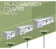 Quầy Salad Sandwich Berjaya BS1D/SSC4/C, BS1D/SSC6/C