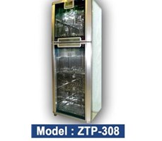 Tủ sấy bát Okasu ZTP308 -12 kính hoa/gương