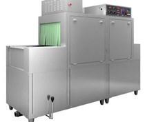 Máy rửa bát băng chuyền kết hợp giá kệ OKASU DCS