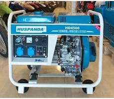 Máy phát điện chạy dầu không giảm âm HUSPANDA HD4500