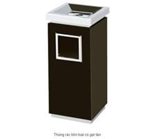 Thùng rác kim loại có gạt tàn HTPVH02