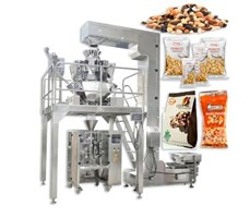 Máy đóng gói trái cây sấy, hoa quả sấy 1kg tích hợp cơ cấu chuyển liệu